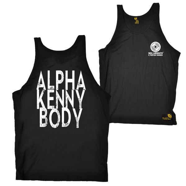 FB Sex Weights and Protein Shakes Gym Bodybuilding Vest - Alpha Kenny Body - Bella Singlet Top