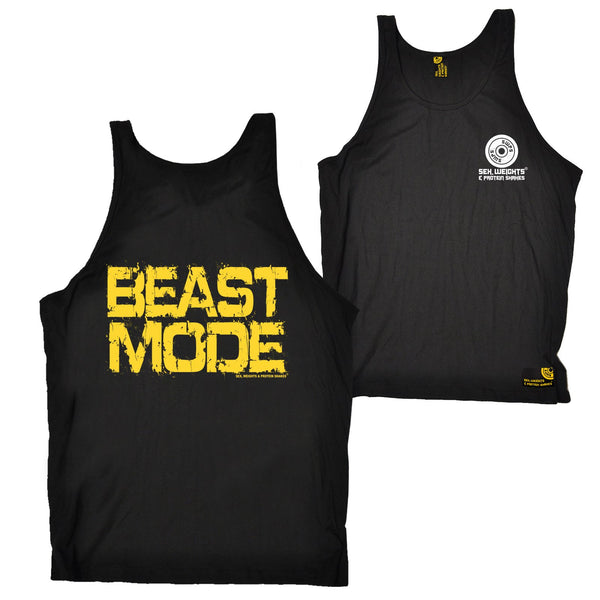 FB Sex Weights and Protein Shakes Gym Bodybuilding Vest - Beast Mode - Bella Singlet Top