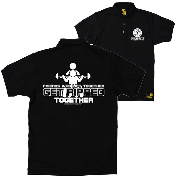 FB Sex Weights and Protein Shakes Gym Bodybuilding Polo Shirt - Friends Who Lift - Polo T-Shirt
