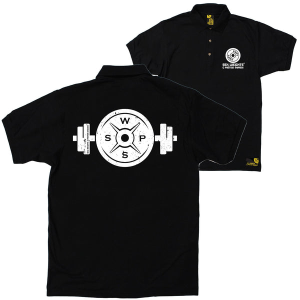 FB Sex Weights and Protein Shakes Gym Bodybuilding Polo Shirt - Logo 3 Bar - Polo T-Shirt