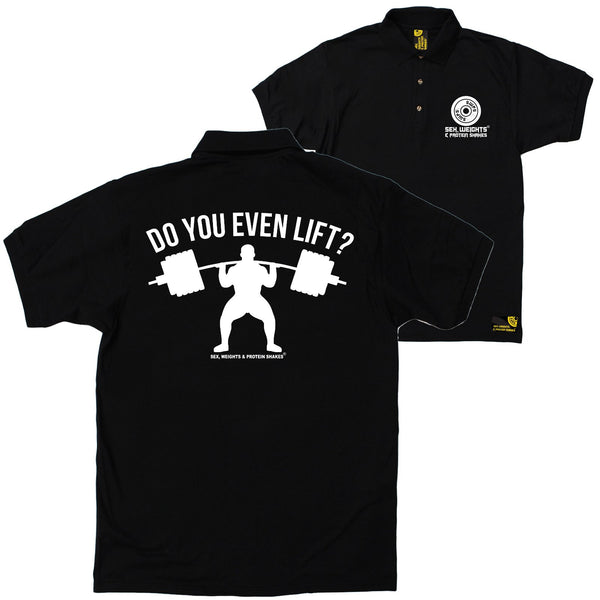 FB Sex Weights and Protein Shakes Gym Bodybuilding Polo Shirt - Do You Even Lift - Polo T-Shirt