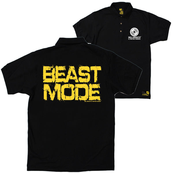 FB Sex Weights and Protein Shakes Gym Bodybuilding Polo Shirt - Beast Mode - Polo T-Shirt