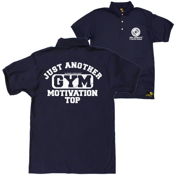 FB Sex Weights and Protein Shakes Gym Bodybuilding Polo Shirt - Just Another Gym Motivational Top - Polo T-Shirt