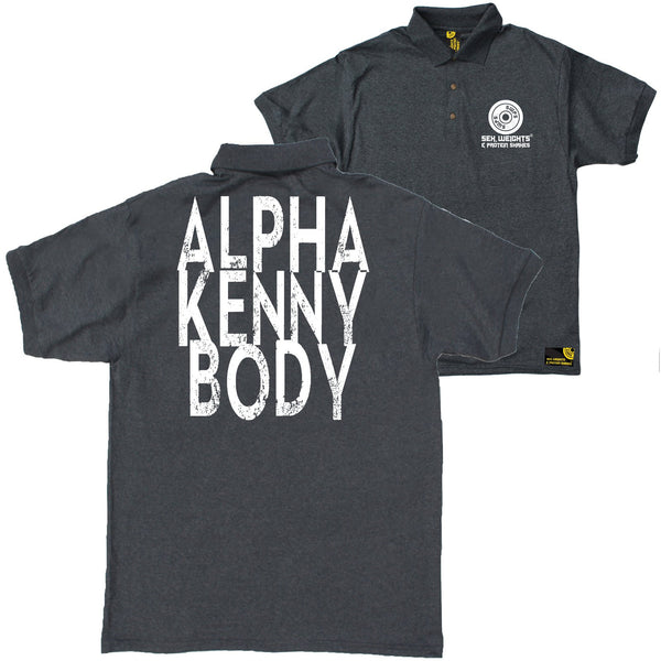 FB Sex Weights and Protein Shakes Gym Bodybuilding Polo Shirt - Alpha Kenny Body - Polo T-Shirt
