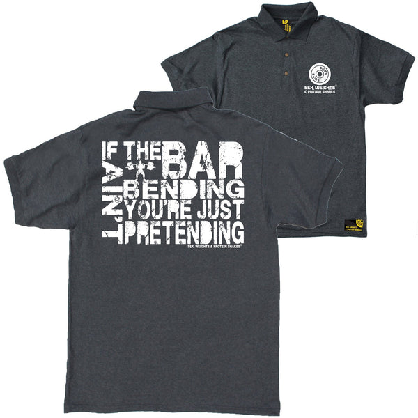 FB Sex Weights and Protein Shakes Gym Bodybuilding Polo Shirt - If The Bar Aint Bending - Polo T-Shirt