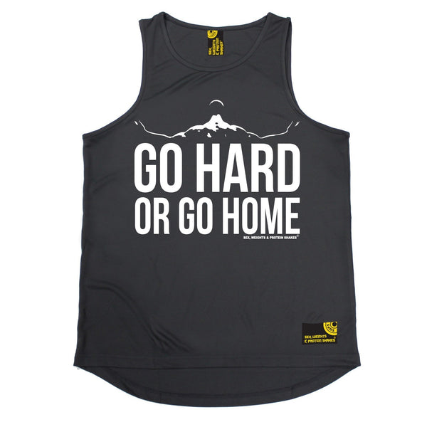 SWPS Go Hard Or Go Home Sex Weights And Protein Shakes Gym Men's Training Vest