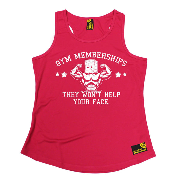 Gym Memberships They Won't Help Your Face Girlie Performance Training Cool Vest
