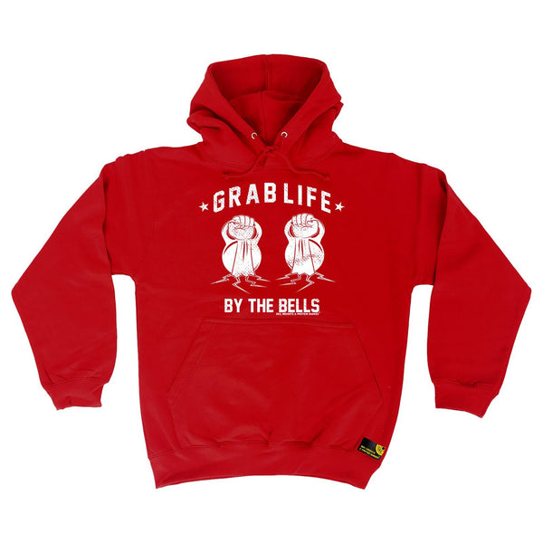 Sex Weights and Protein Shakes Grab Life By The Bells Sex Weights And Protein Shakes Gym Hoodie