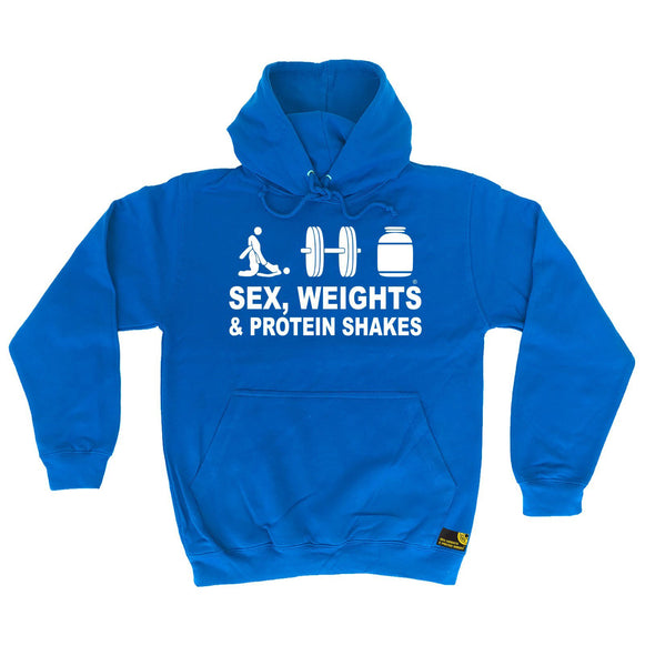 Sex Weights and Protein Shakes Sex Weights & Protein Shakes D3 Gym Hoodie