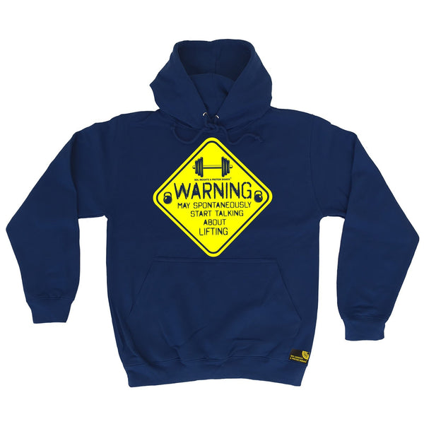 SWPS Warning Start Talking About Lifting Sex Weights And Protein Shakes Gym Hoodie