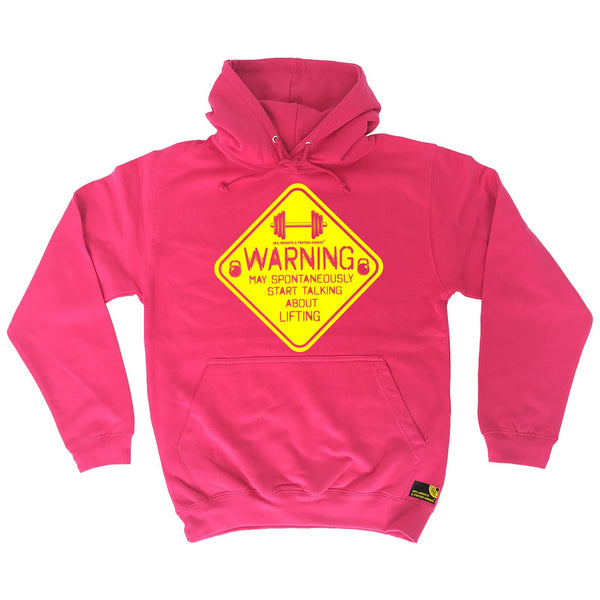 Sex Weights and Protein Shakes GYM Training Body Building -   Warning May Spontaneously ... Lifting - HOODIE - SWPS Fitness Gifts