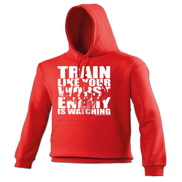123t SWPS Unisex Men's Women's TRAIN LIKE YOUR WORST ENEMY IS WATCHING - HOODIE