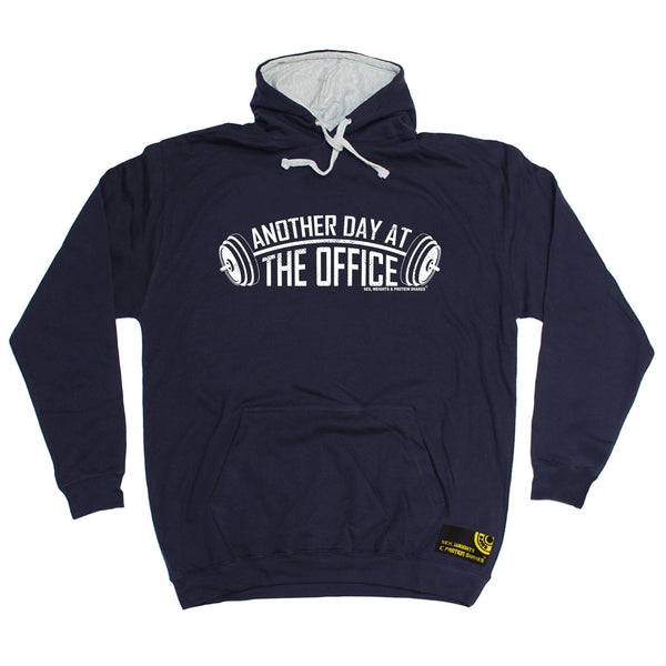 SWPS Another Day At The Office Sex Weights And Protein Shakes Gym Hoodie