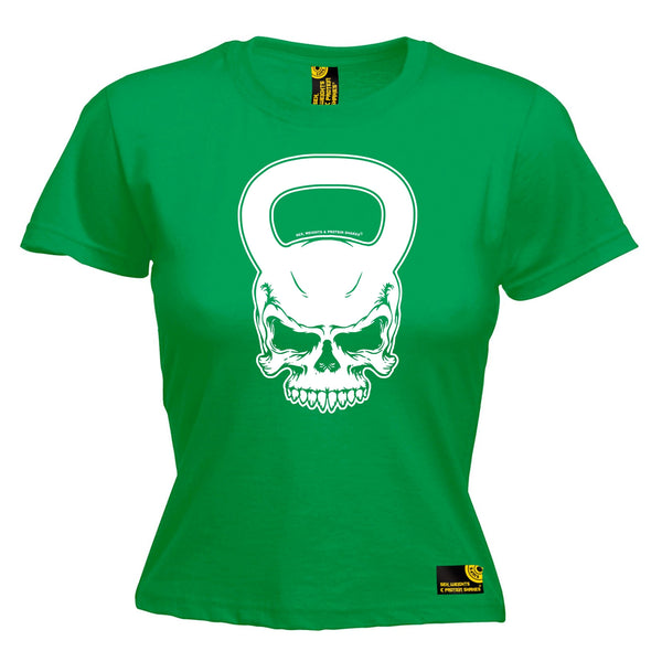 KettleBell Skull Women's Fitted T-Shirt