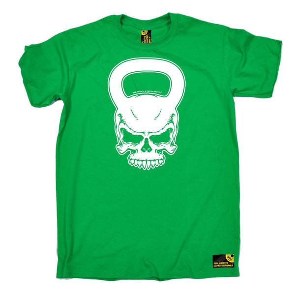 Sex Weights and Protein Shakes Men's Kettlebell Skull Sex Weights And Protein Shakes Gym T-Shirt