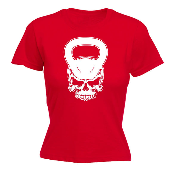 SWPS Women's KETTLEBELL SKULL ... DESIGN  - FITTED T-SHIRT