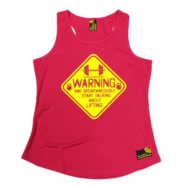 Warning May Spontaneously ... Lifting Girlie Performance Training Cool Vest