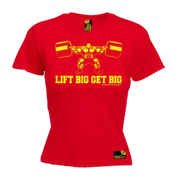 SWPS Women's Lift Big Get Big Sex Weights And Protein Shakes Gym T-Shirt