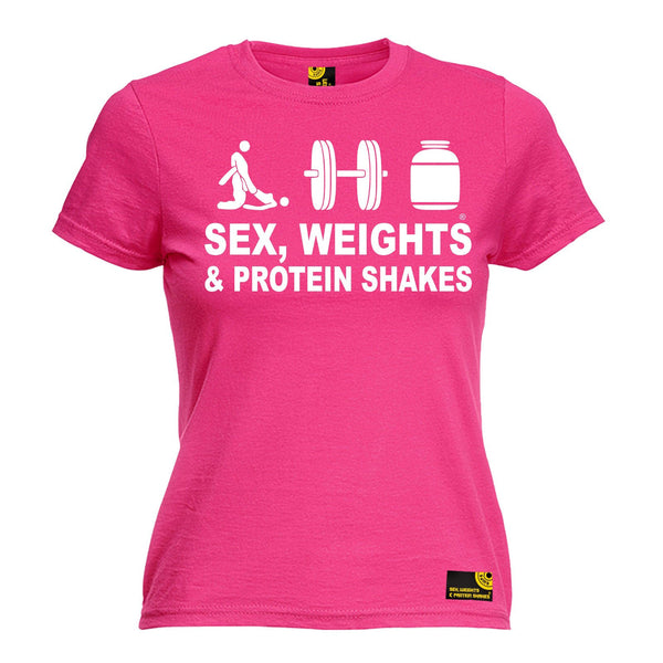 Sex Weights and Protein Shakes Women's Sex Weights & Protein Shakes D3 Gym T-Shirt