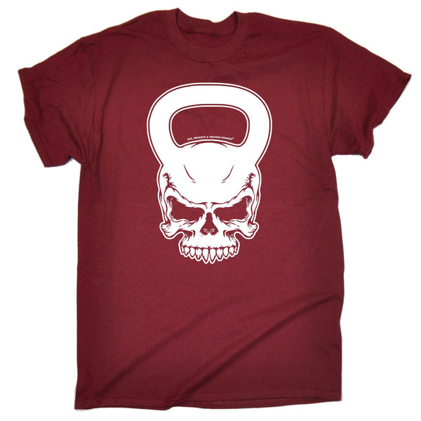 SWPS Men's KETTLEBELL SKULL ... DESIGN  LOOSE FIT T-SHIRT
