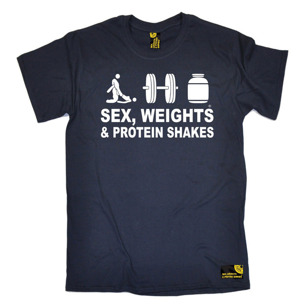 Sex Weights and Protein Shakes Men's Sex Weights & Protein Shakes D3 Gym T-Shirt