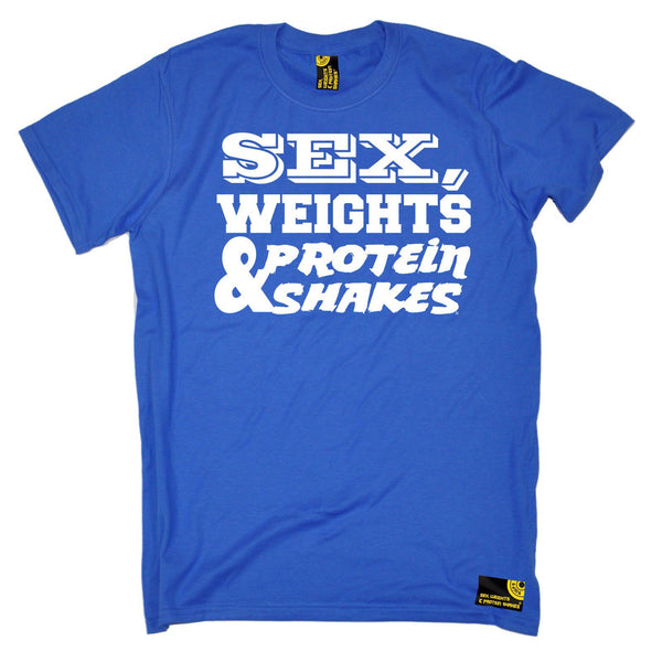 Sex Weights and Protein Shakes Men's Sex Weights & Protein Shakes D1 Gym T-Shirt