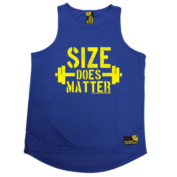 SWPS Size Does Matter Sex Weights And Protein Shakes Gym Men's Training Vest