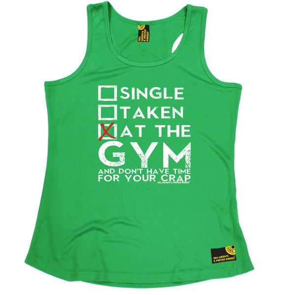 Single Taken At The Gym ... Your Crap Girlie Performance Training Cool Vest