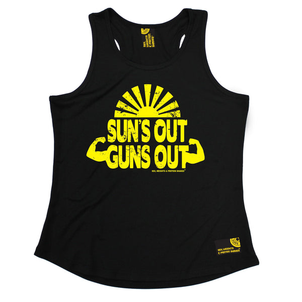 Suns Out Guns Out Girlie Performance Training Cool Vest