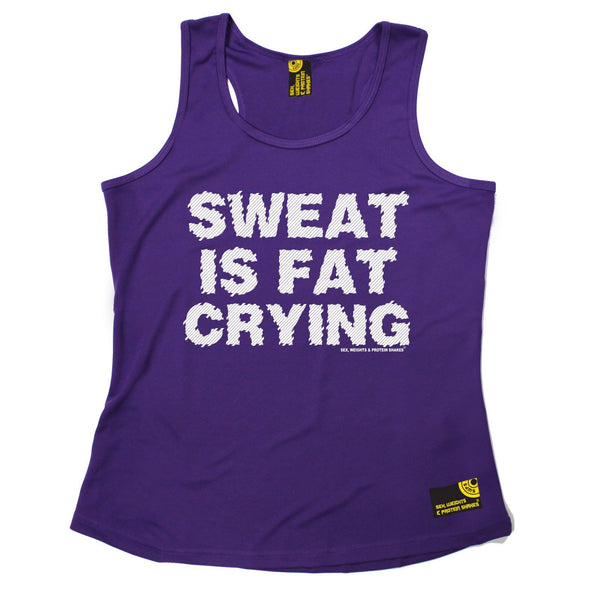 SWPS Sweat Is Fat Crying Sex Weights And Protein Shakes Gym Girlie Training Vest