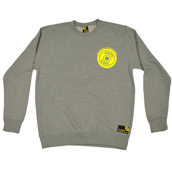 Weight Plate ... Breast Pocket Design Sweatshirt