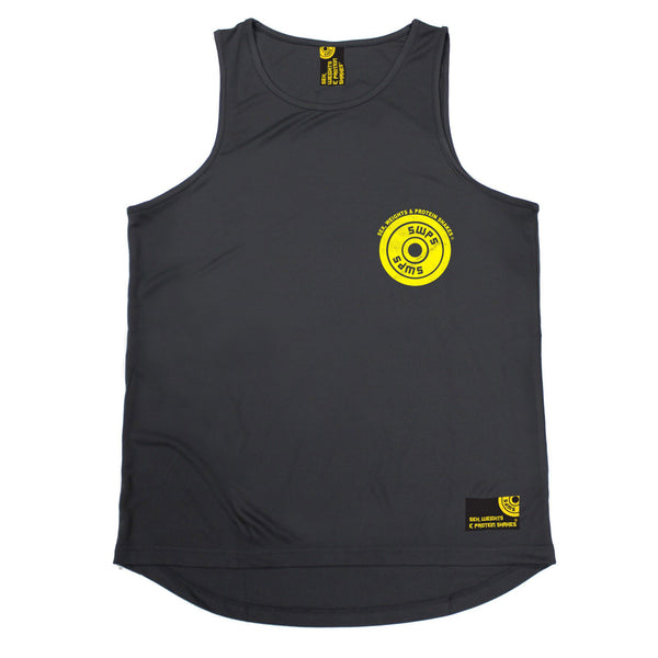 Weight Plate ... Breast Pocket Design Performance Training Cool Vest
