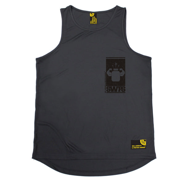 Protein Flexing ... Breast Pocket Design Performance Training Cool Vest