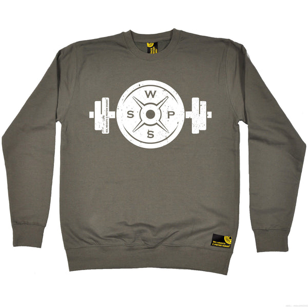 Weight Plate Dumbbell Design Sweatshirt