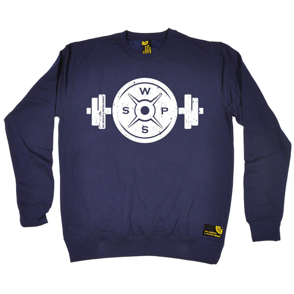 Sex Weights and Protein Shakes GYM Training Body Building -   Swps Weight Plate Dumbbell Design - SWEATSHIRT - SWPS Fitness Gifts