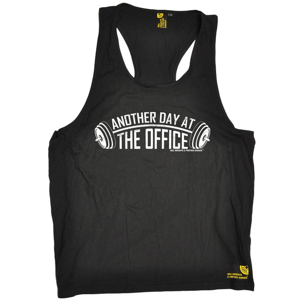 SWPS Another Day At The Office Sex Weights And Protein Shakes Gym Men's Tank Top