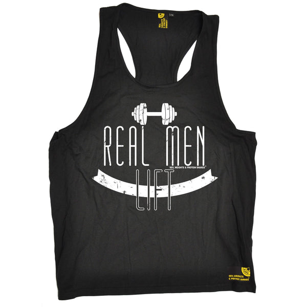 Sex Weights and Protein Shakes Real Men Lift Sex Weights And Protein Shakes Gym Men's Tank Top
