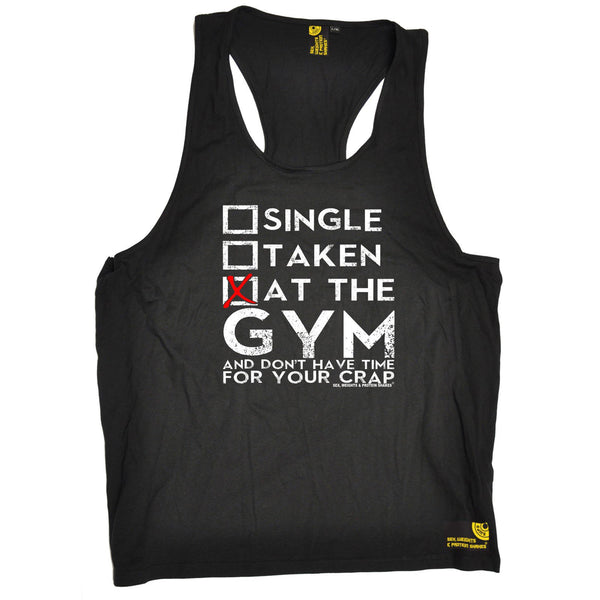 SWPS Single Taken At The Gym Sex Weights And Protein Shakes Men's Tank Top