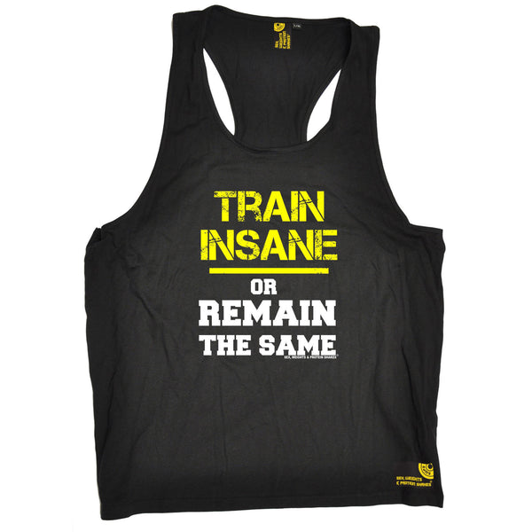 Sex Weights and Protein Shakes GYM Training Body Building -  Men's Train Insane Or Remain The Same - TANK TOP - SWPS Fitness Gifts