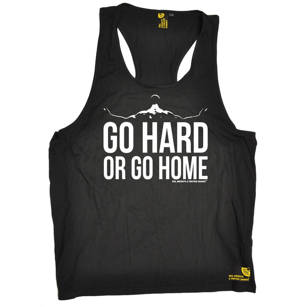 SWPS Go Hard Or Go Home Sex Weights And Protein Shakes Gym Men's Tank Top