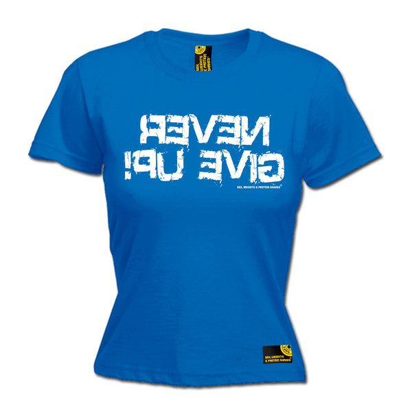 Never Give Up Women's Fitted T-Shirt