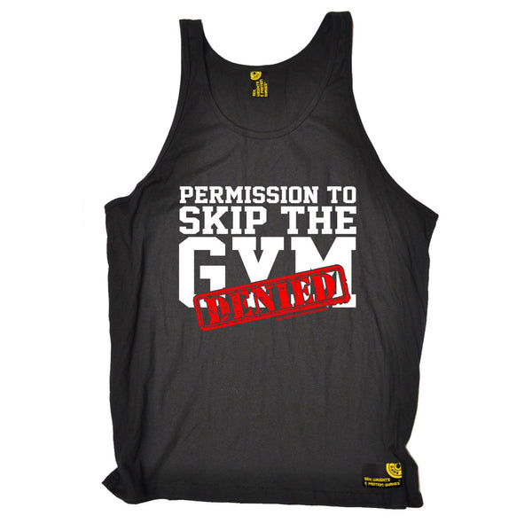 SWPS Permission To Skip The Gym Denied Sex Weights And Protein Shakes Vest Top