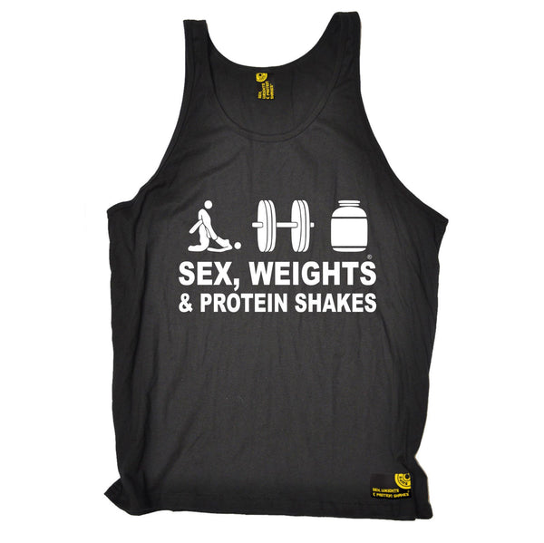 Sex Weights and Protein Shakes Sex Weights & Protein Shakes D3 Gym Vest Top