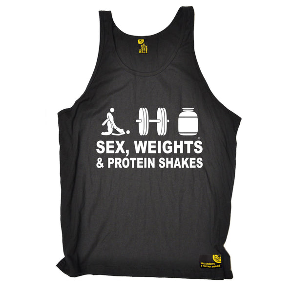 Sex Weights & Protein Shakes ... D3 Vest Top