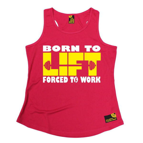 SWPS Born To Lift Forced To Work Sex Weights And Protein Shakes Gym Girlie Training Vest