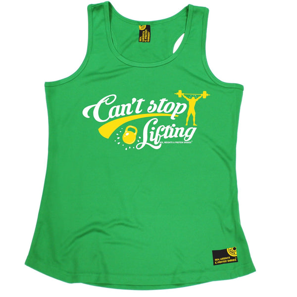 SWPS Can't Stop Lifting Sex Weights And Protein Shakes Gym Girlie Training Vest