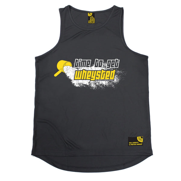 SWPS Time To Get Wheysted Sex Weights And Protein Shakes Gym Men's Training Vest