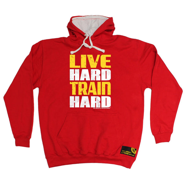 Sex Weights and Protein Shakes Live Hard Train Hard Sex Weights And Protein Shakes Gym Hoodie