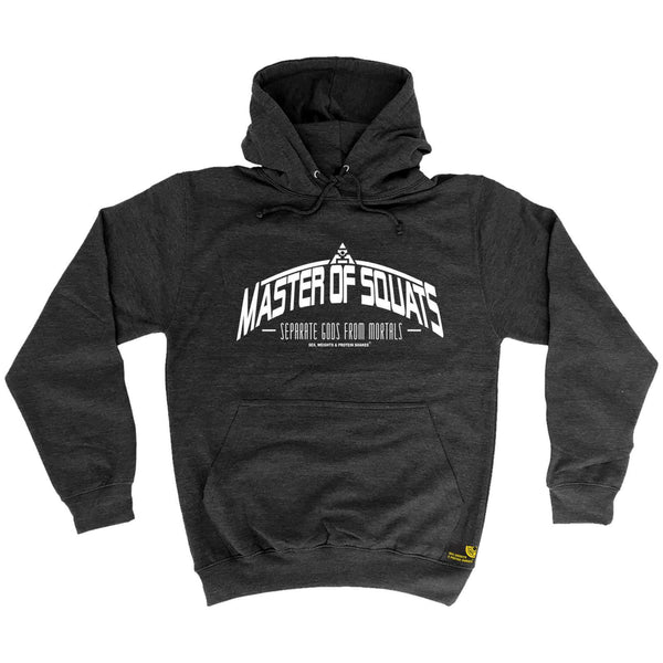 Sex Weights and Protein Shakes - Master Of Squats - Gym HOODIE