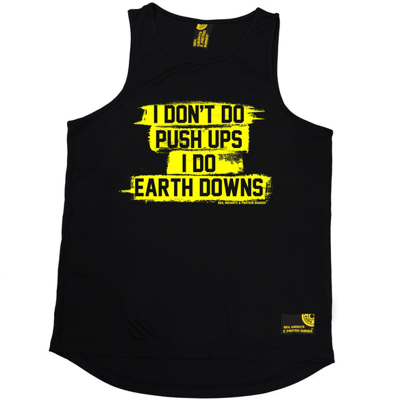 I Don't Do Push Ups I Do Earth Downs Performance Training Cool Vest